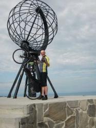 Arthur van der Lee: Noordkaap reeds bereikt en weer was het er 30 graden Celsius!