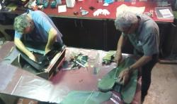 Prepreg Tail Bag productie